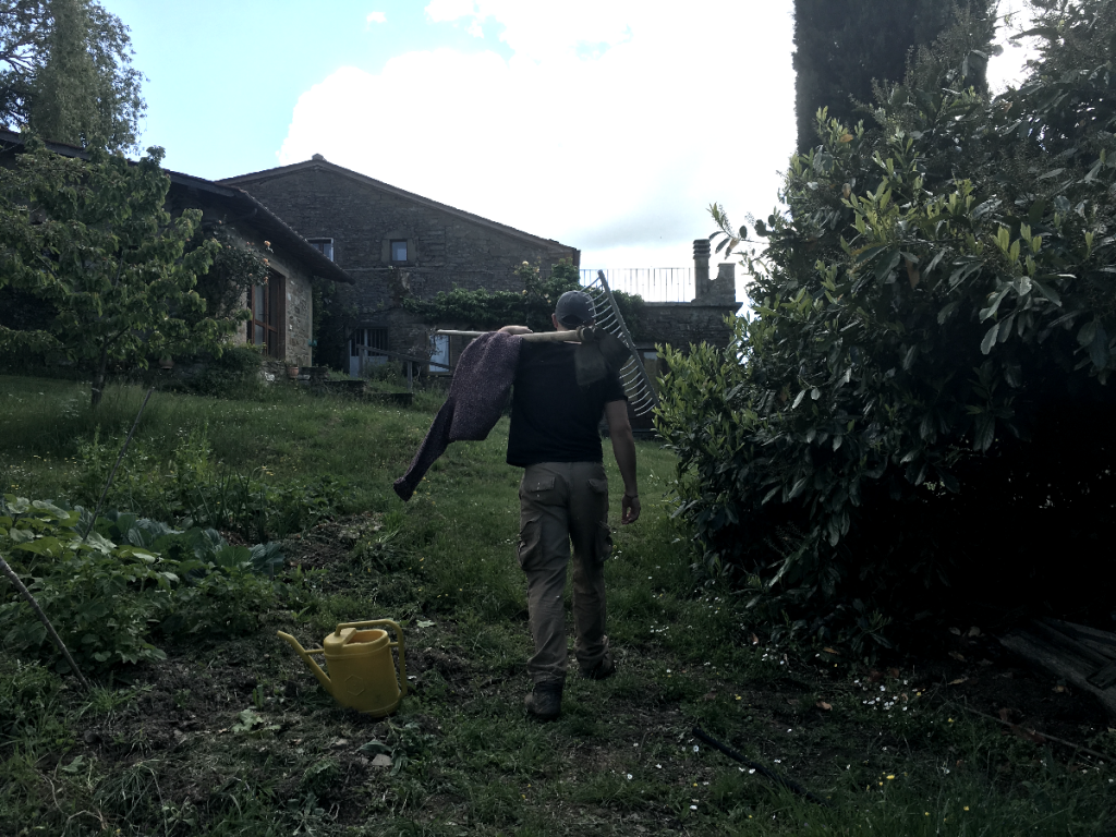 How To Live Off Grid Man Going Home From Working Field